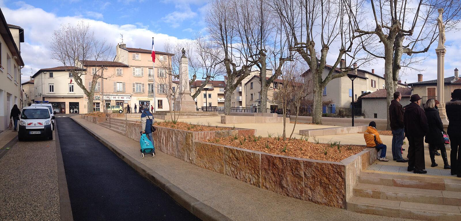 Brignais centre ville asa lyon architecte auvergne for Agence paysage lyon